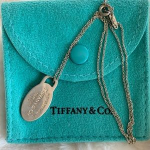 Tiffany tag necklace